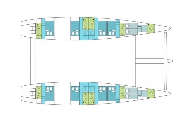 Deck Plan Catamaran Dream 82