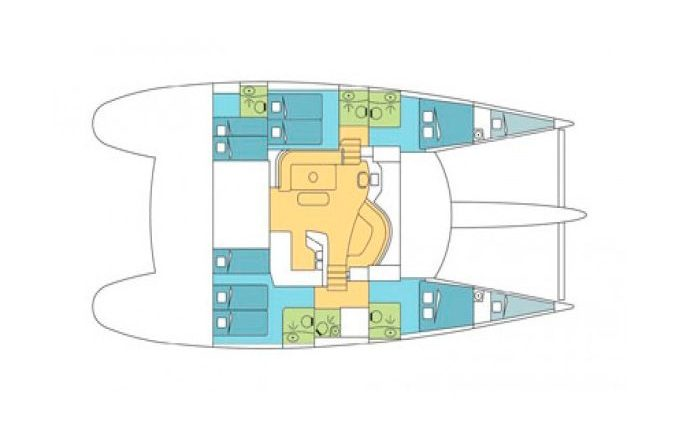 Deck Plan Catamaran Eleuthera 60