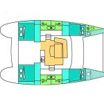 Deck Plan Catamaran Lagoon 440