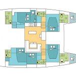 Deck Plan Catamaran Lagoon 52