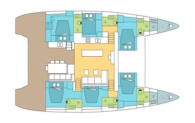 Deck Plan Catamaran Lagoon 620