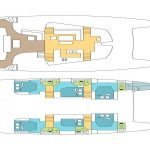 Deck Plan Catamaran Sanya 57