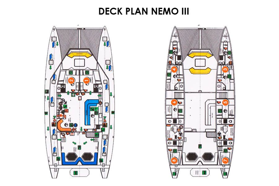 Deck Plan Catamaran Nemo III