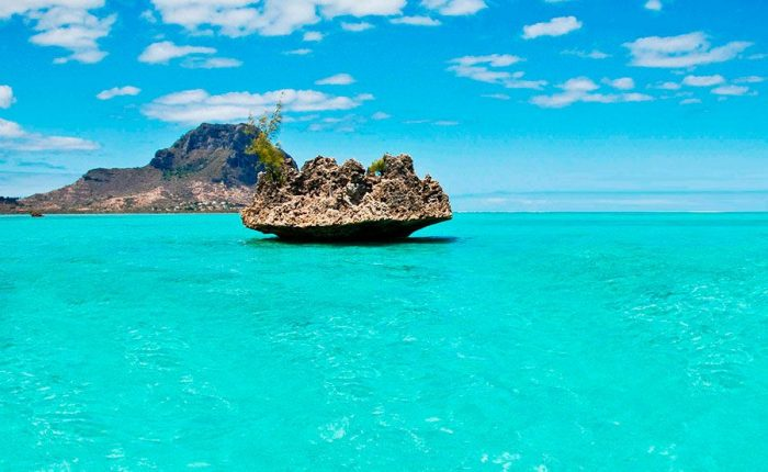 Lagon Du Morne Mauritius Island