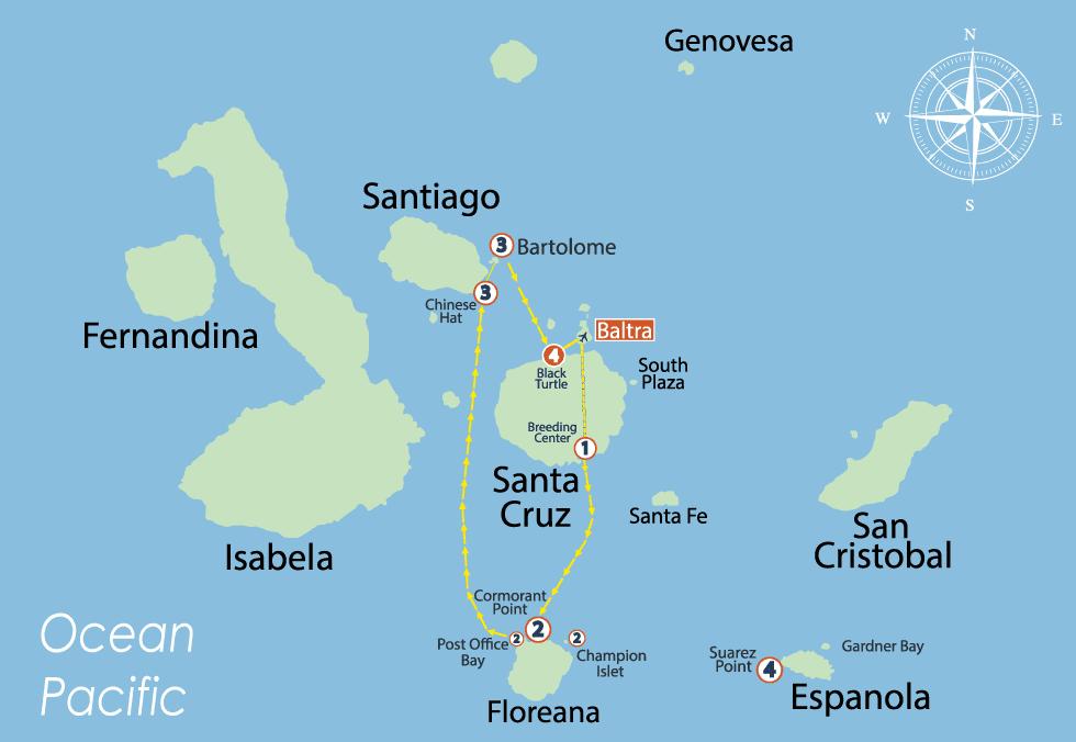 S/C Nemo II South Itinerary 4 Days