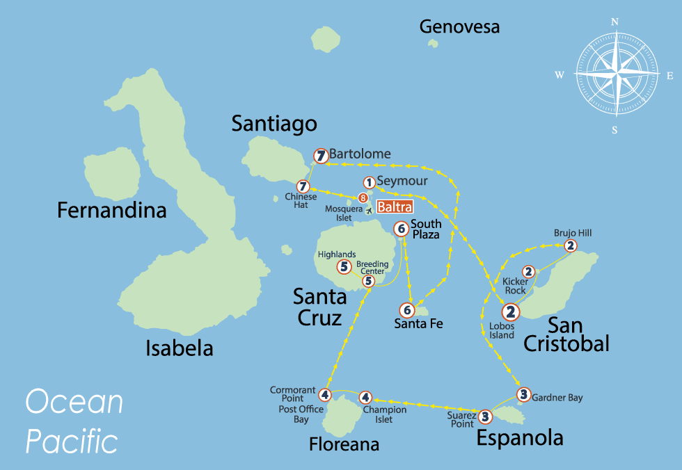 S/C Nemo III South Itinerary B 8 Days