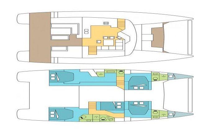 Deck Plan Catamaran Saba 50